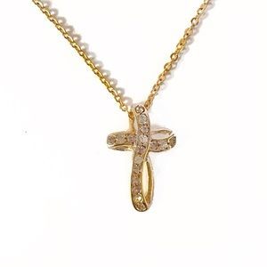 Jewelry - Gold Infinity Cross Diamond Pendant